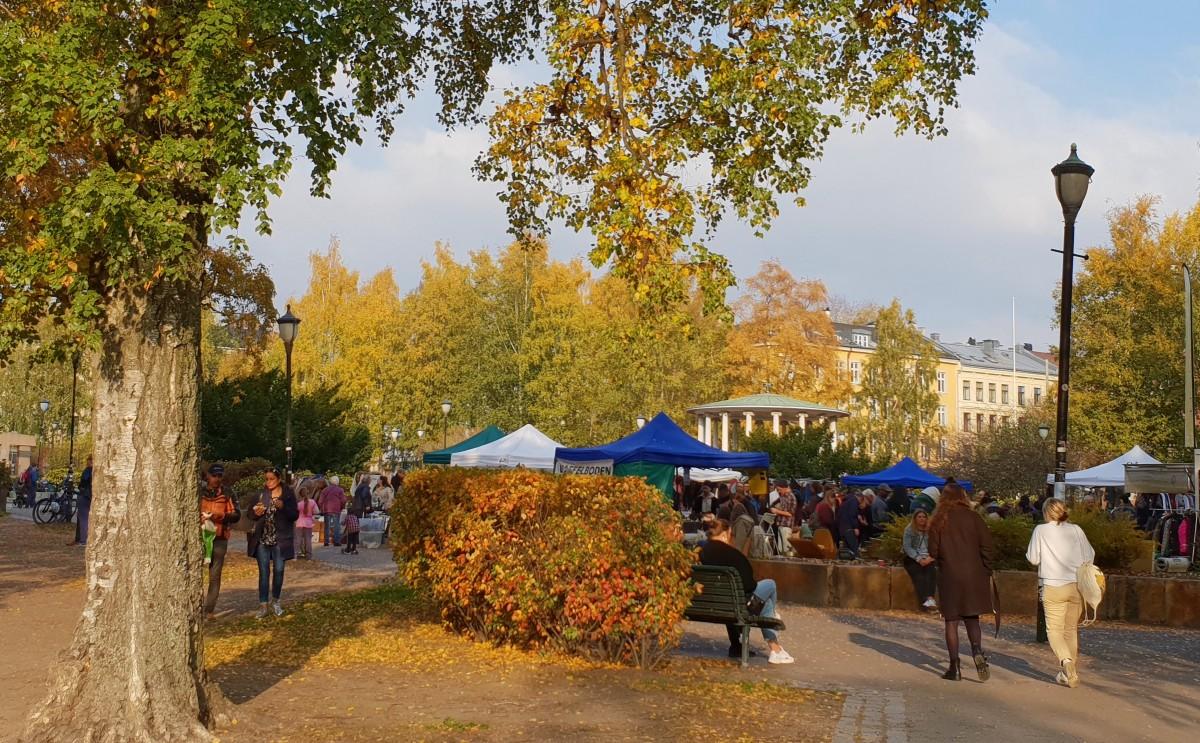 Birkelunden søndagsmarked på Grünerløkka.
