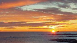 Solnedgang på Rakke