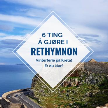 Rethymnon i vintersol