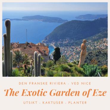 Botanisk hage med utsikt i Eze