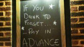 På en bar i London….