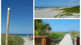 Lange hvite strender på Cocoa Beach